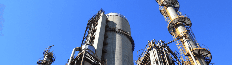 Vue d´une fabrique chimique industrielle